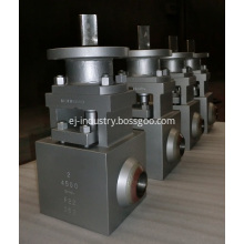 4500LB metal seat floating ball valve