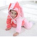Soft baby Flannel Romper Animal Onesie Pajamas Outfits Suit,sleeping wear,cute pink cloth,baby hooded towel
