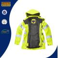 Hi Vis Reflective Safety Breathable Waterproof Jacket in Yellow/Orange