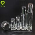 20ML 30ML 100ML 120ML Shiny aluminum sprayer empty cream foundation airless pump glass bottle for cosmetic set