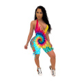 Sexy women's dress with character tie jumpsuit women's bodysuit jumpsuit Strapping sexy Jumpsuit
