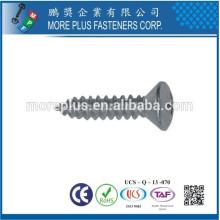 Made in Taiwan DIN7983 mit weißer Zinkbeschichtung Rissed Senkkopfschraube