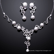 New silver jewelry set pearl jewelry set christmas gifts
