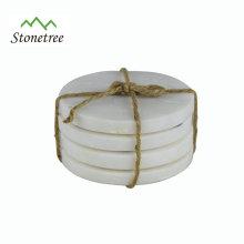 Coasters de mármore naturais Eco-Friendly dos utensílios de mesa