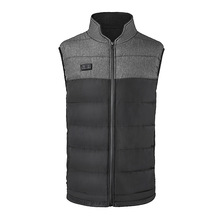 Men's Woven Body Warmer With Padding Sleeveless Gelit
