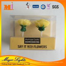 Rose und Carnation Shape Geburtstagskerzen