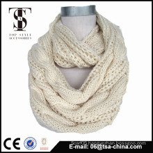 Fashion new braided style winter infinity scarf