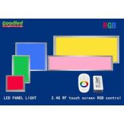 Flat RGB LED Panel Light, 600x600 LED Ceiling Light with RF