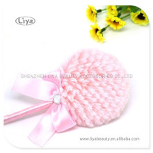 New arrival super lovely shiny particles powder long handle powder puff