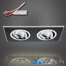 pure black paint aluminium 2 light indoor spot light ce, led lamp cup