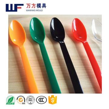 Le moule jetable de cuillère de crème glacée d'OEM fait sur commande / le moule en plastique jetable de cuillère de crème glacée d'injection en plastique de conception faite sur commande / les moules en plastique de couteau