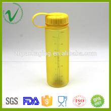 Alimentos de calidad PCTG agua potable vacío amarillo 500 ml botella de agua de plástico con tapa roscada