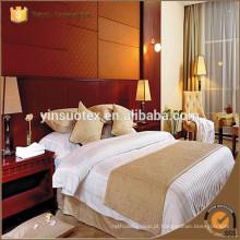 Bom preço de venda, algodão 100 STAR conjunto de cama do hotel, folhas de cama do hotel
