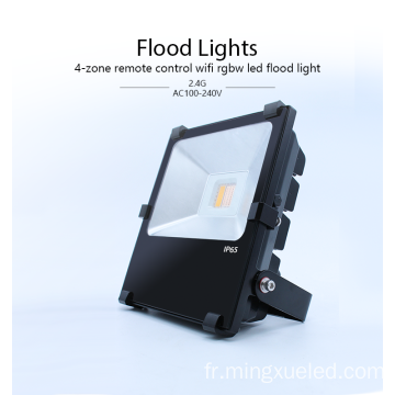 AC100-240V lampe de détresse à LED 30w RGBW led flood light