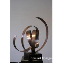 modern abstract copper sculpture,bronze sculpture