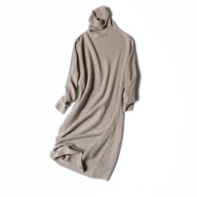 Women clothing high-necked casual style sweater pure cashmere sweater women loose sets