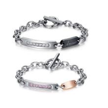 Couple son et ses bracelets, bijoux bracelet en acier inoxydable