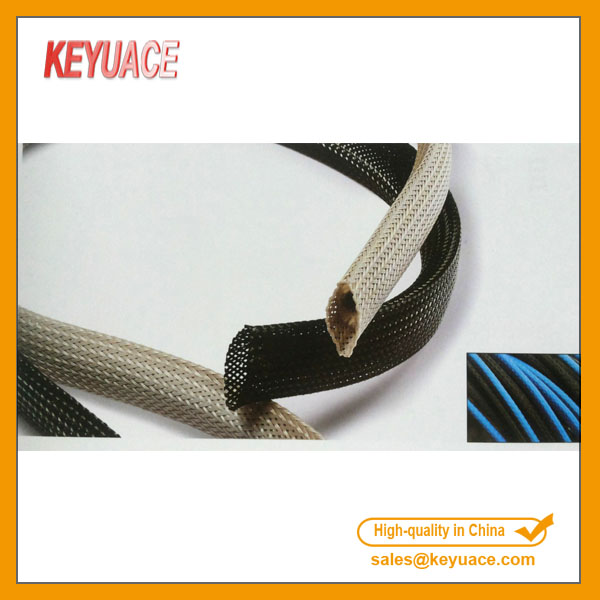 Ketumpatan Tinggi PET Black Braided Sleeving Expandable