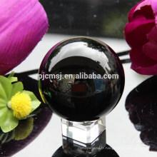 boule de cristal noire pour la décoration
