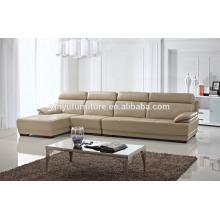 Muebles de sala moderna sofá de cuero KW339