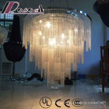 Lámpara colgante moderna decorativa y cristalina del proyecto con el hotel
