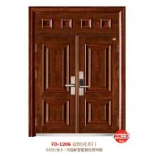 China Puerta de entrada del proveedor de puerta de acero Puerta de puerta de metal del hierro (FD-1206)