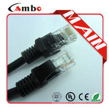 Cable RJ45 utp Strand 24awg eithernet cable negro