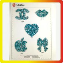High quality and hot sell Star&heart rhinestone Patch