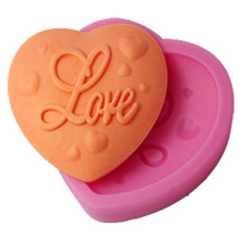 Molde do bolo do vendedor de Amazon Amor Heart Decor Silicone Mold Pink