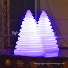 Lâmpada incandescente de torre do Natal ornamentos LED levou árvore de Natal decorações USB recarregável usados interior/exterior