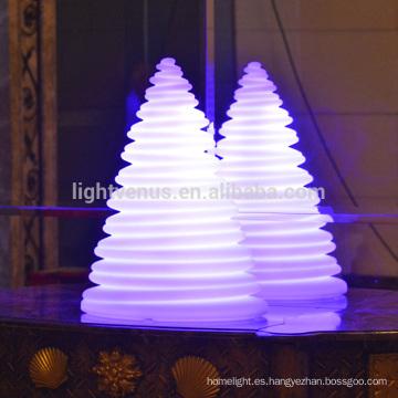 Navidad adornos brillantes torre lámpara llevó árbol de Navidad decoraciones USB recargable uso interior/exterior