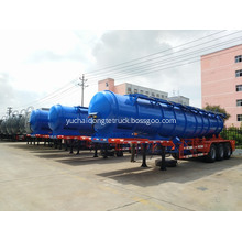 18000 Liters 98% Sulfuric Acid Semi Trailer Tanker