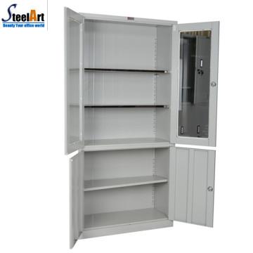 Высокое качество коммерческие офисная мебель два документа двери шкафа хранения