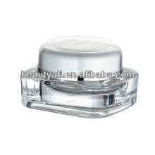 15g 30g 50g 75g 125g quadrado plástico transparente acrílico creme jar embalagem