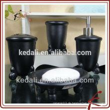 Schwarzer Großhandel Porzellan Keramik Waschraum Set Für Haus Hotel