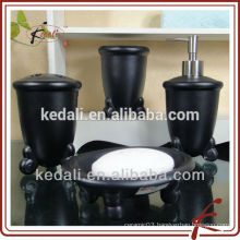 Black Wholesale Porcelain Ceramic Washroom Set For Home Hotel