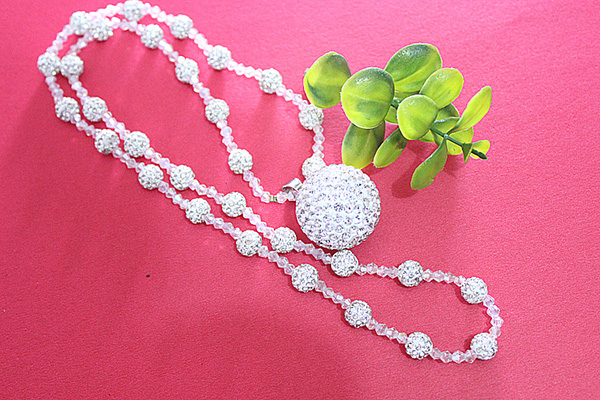 Shamballa Ball Necklace