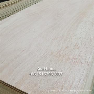 Wada alta calidad E0 pegamento álamo abedul okoume 3 mm de espesor de madera contrachapada comercial