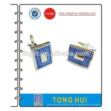Mode Manschettenknopf mit Rechteck und blauem Design