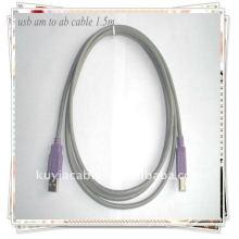 Alta qualidade Cinza Cabo USB 2.0 AM TO BM cabo USB cabo da impressora 1.5M