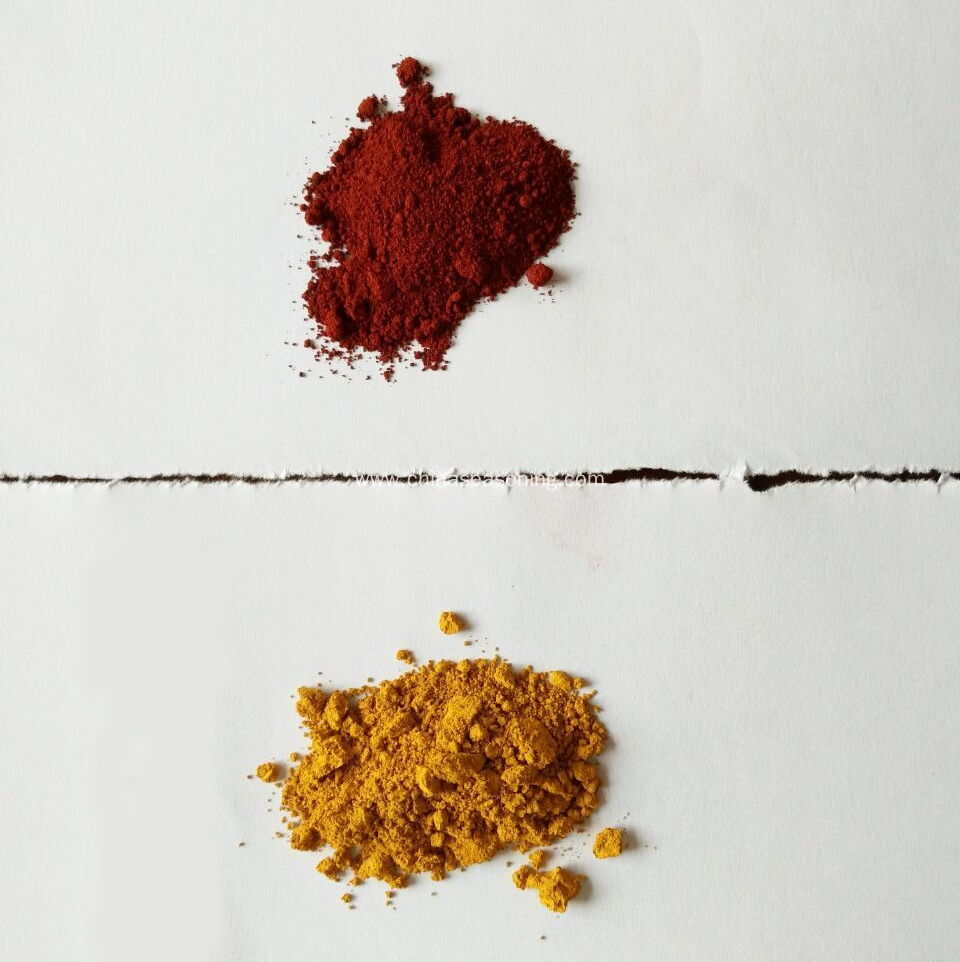 iron oxide red and yellow