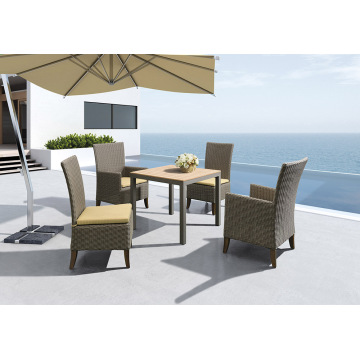 Modern Design Outdoor Furniture Rattan Weaving Dining Set