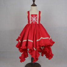 Wholesale chinois robe de noël rouge