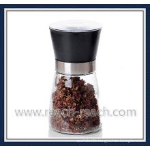 Manual Glass Salt and Pepper Mill, Kitchen Mill (R-6054)