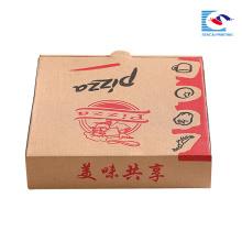 caja de embalaje corrugado de pizza personalizada de 18 pulgadas con su logotipo