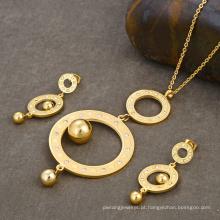 Conjunto de jóias de Dubai 18 quilates ouro grande traje gemstone rani haar