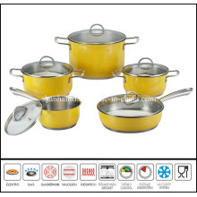 10PCS Color Cooking Pan Set