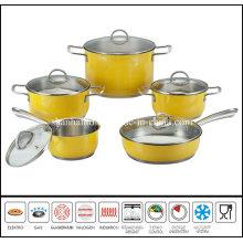 10PCS Color Cooking Pan Set