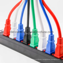 8-Way 0u Vertical IEC C13 Locking PDU with 16A Commando Plug