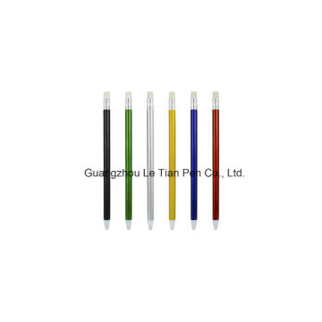 Colorful Barrel Plastic Ball Pen Push Pen Lt-L449